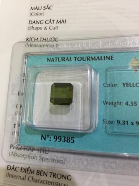 Viên đá Tourmaline thiên nhiên màu xanh Emerald PNJ 99385