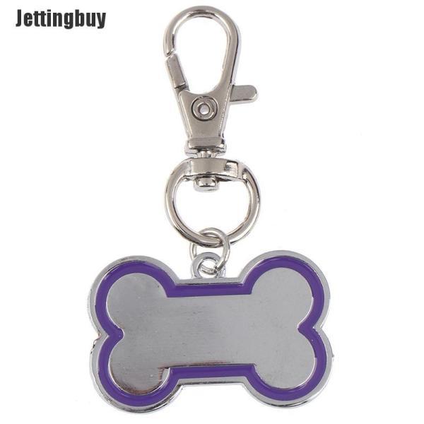 Jettingbuy Pet Dog Cat ID Tên Thẻ Cá Nhân Chó Con Thẻ Hình Xương Khắc Nhãn Pet Đen