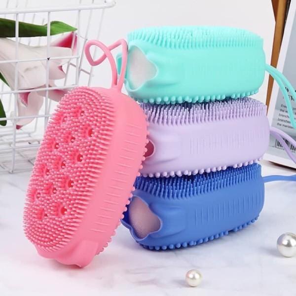 Bông tắm silicone tạo bọt tẩy da chết massage mềm chà lưng giá rẻ kiểu Hàn Quốc