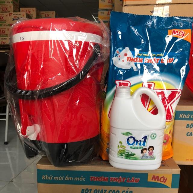 Bột Giặt Đậm Đặc Hương Nước Hoa 5,5kg- Tặng 01 Thùng Đá 16 Lít Và 1 Can Nước Rửa Chén On1 1,5 Kg Cùng Giá Khuyến Mãi Hot
