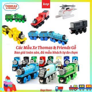 Xe lửa Thomas gỗ, xe lửa thomas and friends, tàu hỏa thomas và những người bạn, phụ kiện xe chơi cùng đường ray xe lửa gỗ thumbnail