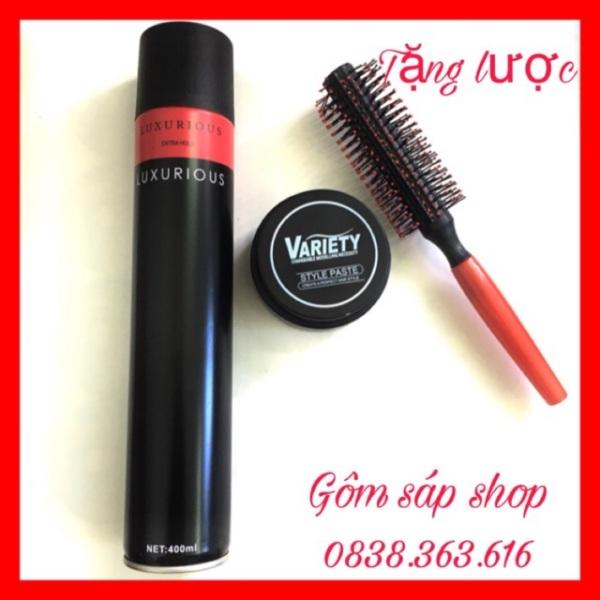 Combo Sáp Vuốt Tóc Variety + tặng kèm lược tạo kiểu / sáp vuốt tóc/ wax vuốt tóc/ keo vuốt tóc/ sap vuot toc/ wax giá rẻ