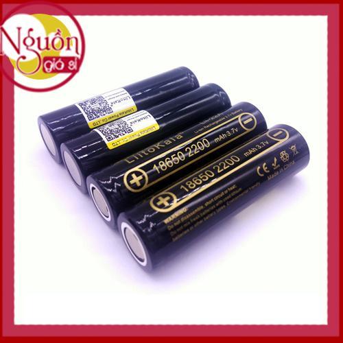 Bộ 4 Pin sạc Lithium 18650 Liitokala 2200mAh xả 10A cho box sạc dự phòng, đèn pin, quạt sạc mini...