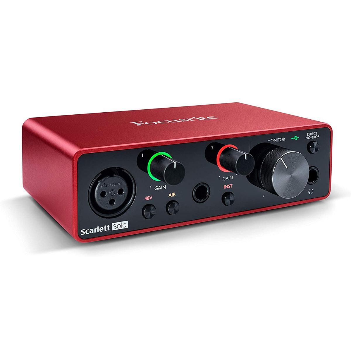 Giá Audio interface chuyên nghiệp Focusrite Scarlett Solo Gen 3
