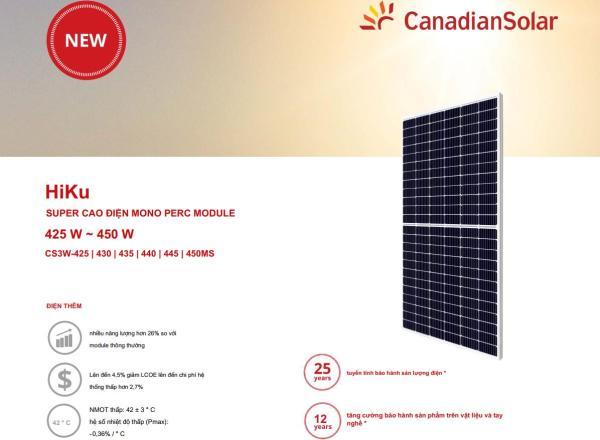 Tấm pin năng lượng mặt trời Canadian 440W