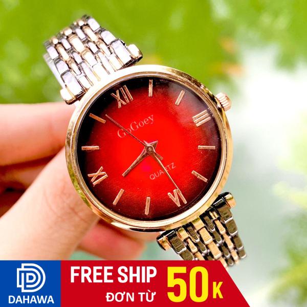 Nơi bán Đồng hồ thời trang nam nữ Gogoey G128, Đồng hồ cặp đôi, mặt chạy kim, 3 màu cực sang, dây kim loại không gỉ, bảo hành 6 tháng