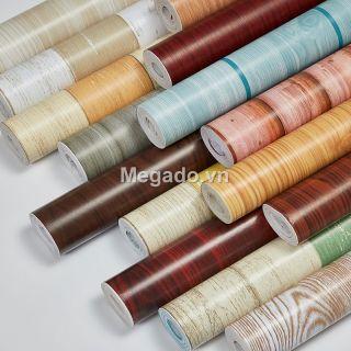 Giấy dán giả gỗ, giấy vân gỗ có keo sẵn dán bàn ghế tủ FF0001 thumbnail