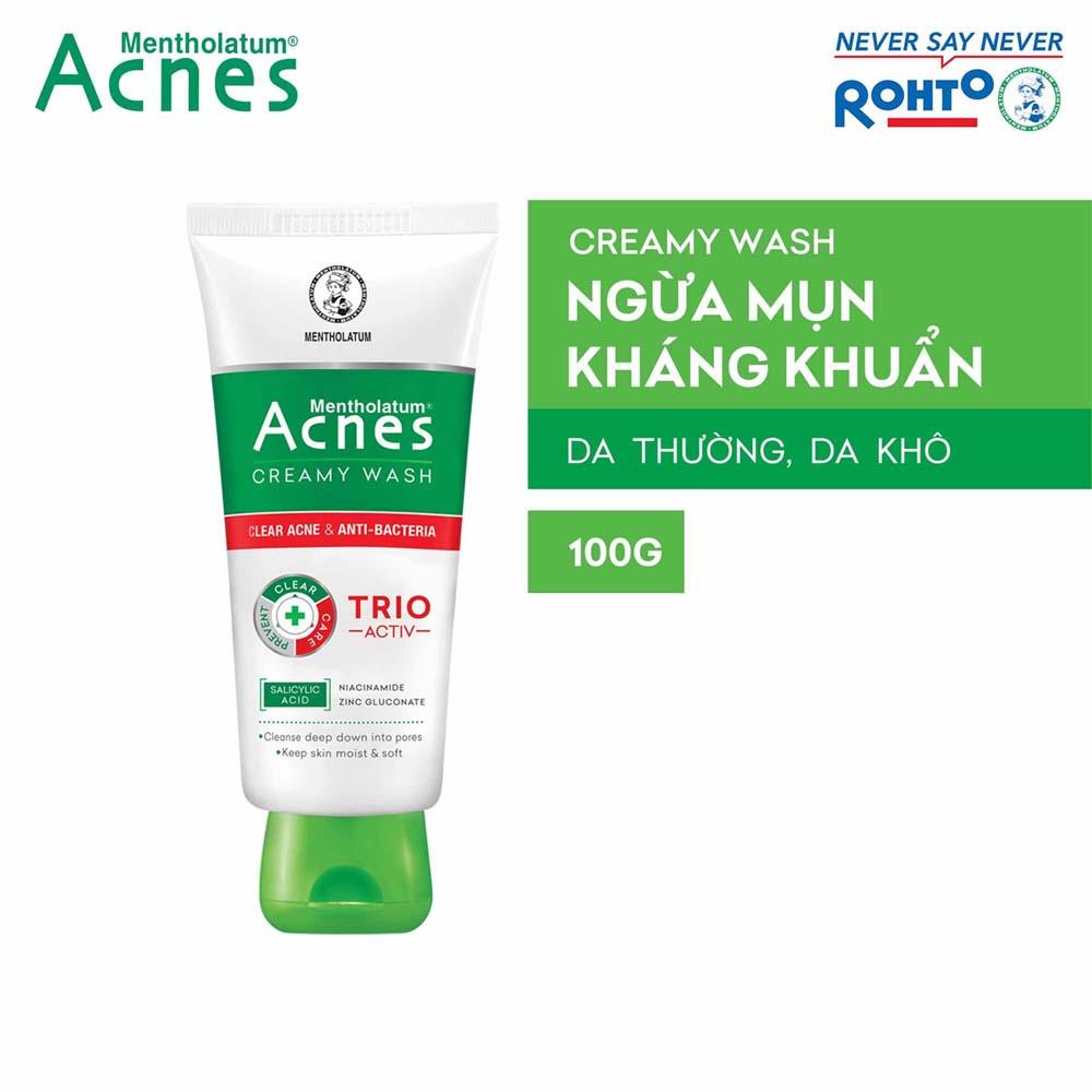 Sữa rửa mặt ngăn ngừa mụn Acnes Creamy Wash 100g