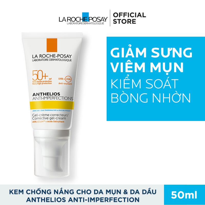 Kem chống nắng giúp bảo vệ da dành cho da bóng dầu, dễ nổi mụn La Roche-Posay Anthelios Anti-Imperfection 50ml giá rẻ