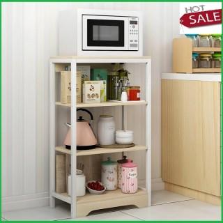 Tủ đồ đa năng mặt gỗ khung thép sơn tĩnh điện 4 tầng- tủ bếp- tủ dể lò vi sóng nha bếp thumbnail