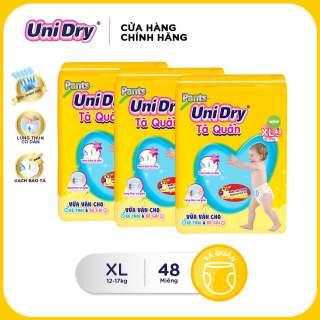 Combo 3 tã quần gói Jumbo Unidry size XL (48 miếng) thumbnail
