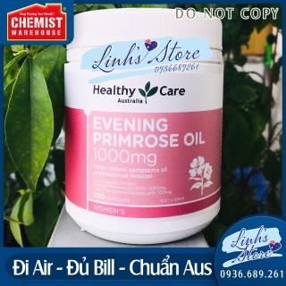MẪU MỚI EXP 05 2024 Tinh dầu Hoa anh thảo Healthy Care Evening Primrose Oil 1000mg - 200 viên Chemist Warehouse - Úc thumbnail