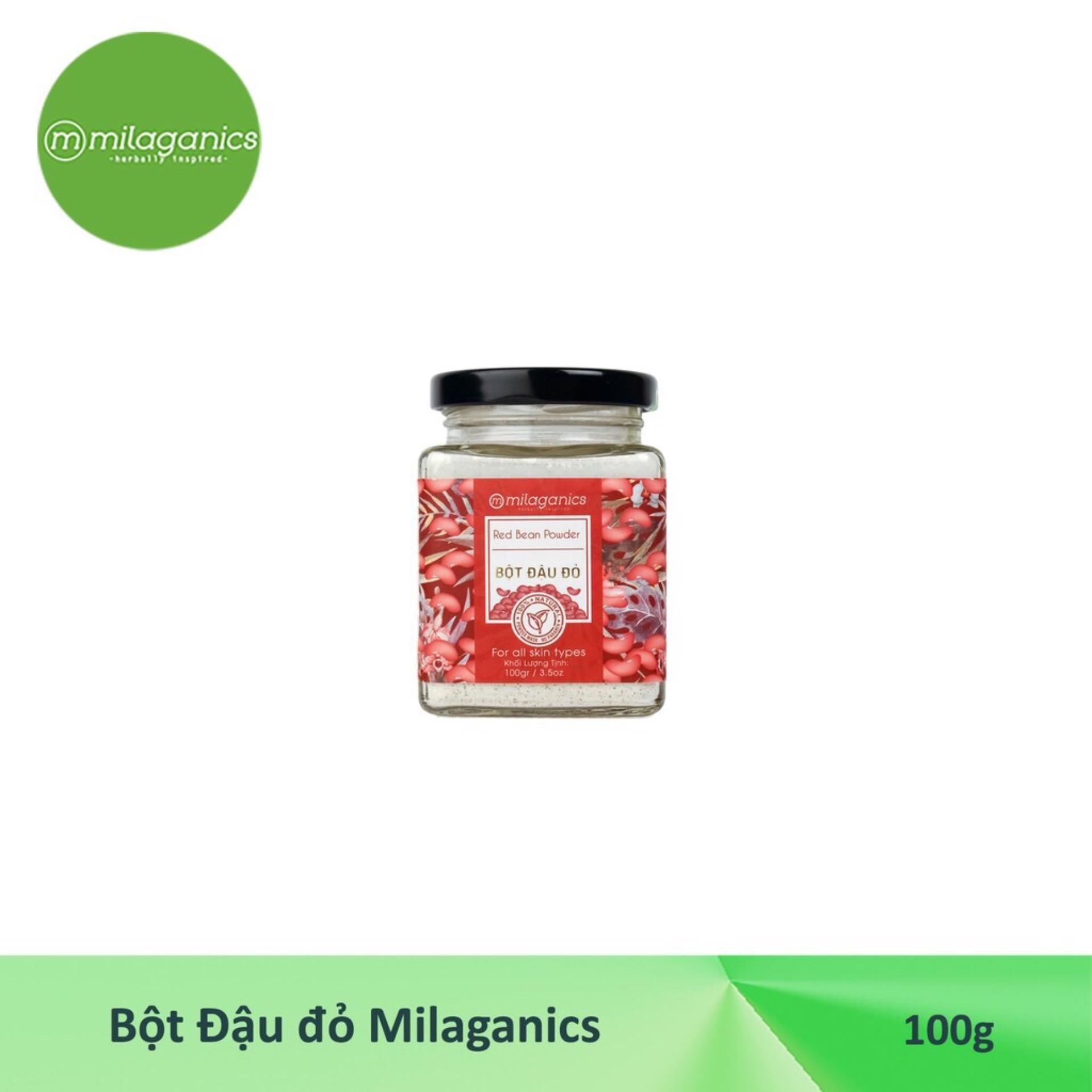Bột đậu đỏ Milaganics 100g- H02 cao cấp