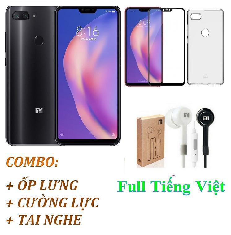 Xiaomi Mi 8 Lite 64GB Ram 6GB (Đen) Full Tiếng Việt - ShopOnline24 + Ốp lưng + Cường lực + Tai nghe - Hàng nhập khẩu