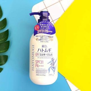 Sữa Dưỡng Thể Chống Nắng HATOMUGI SPF31 PA+++ 250ml UV Care & Moisturizing thumbnail