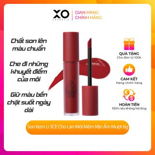Son Kem Lì 3CE Cho Làn Môi Mềm Mịn Ẩm Mượt 6g chính hãng mịn như nhung thumbnail