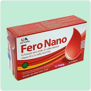 Vviên uống bổ sung sắt Fero Nano -Giúp dự phòng và hỗ trợ thiếu máu do thiếu sắt.- hộp 30 viên 3