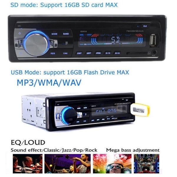 Đầu nghe nhạc MP3 Bluetooth ô tô xe tải 12V MP3 WMA WAV USB FM JSD 520