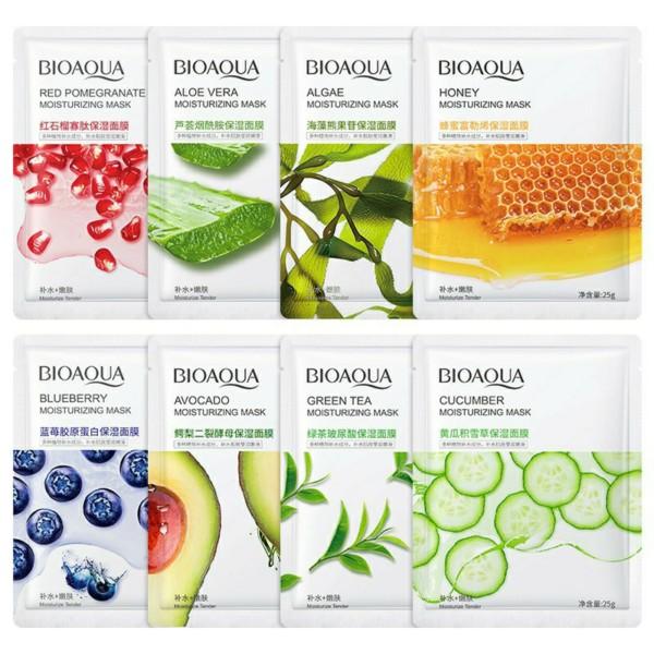 COMBO 6 MIẾNG Mặt nạ BIOAQUA dưỡng ẩm, giữ ẩm, trẻ hóa và dưỡng trắng da nhập khẩu
