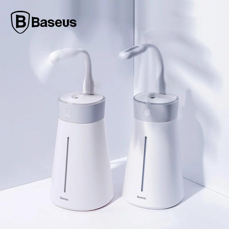 Máy phun sương, dương ẩm da, lọc không khí Baseus Slim Waist humidifier (380ml, USB 5V, Ultrasonic Air Diffuser/ Humidifier Atomizer)