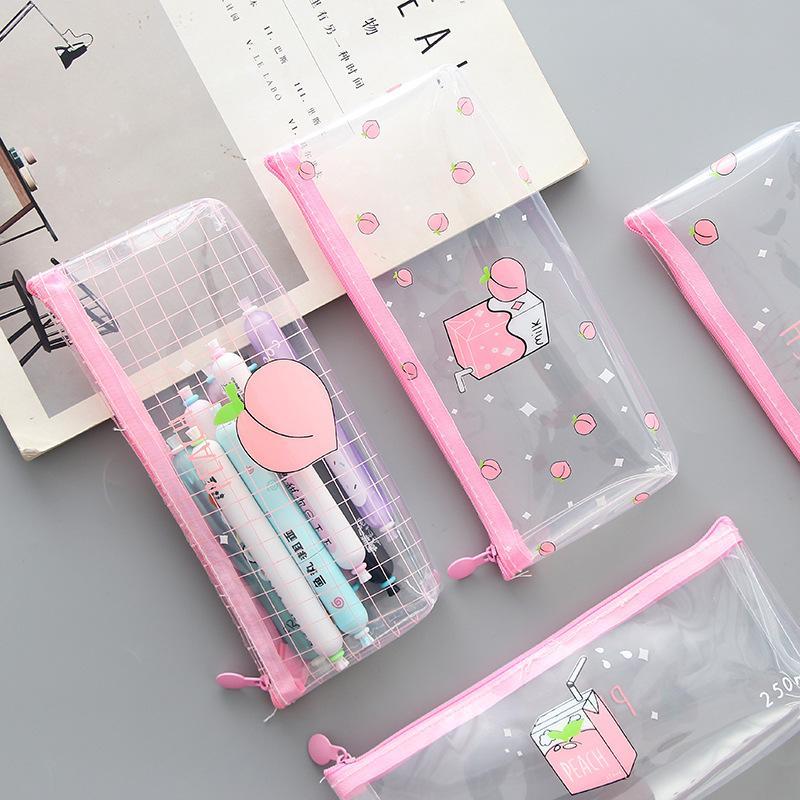 Mua Hộp bút túi đựng bút nền trong suốt nhìn xuyên dễ thương