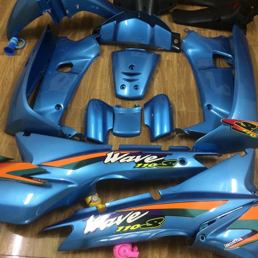 Dàn áo xe- WAVE 110 - wave THÁI - wave 1 bóng - wave nhỏ ,nhựa ABS cao cấp ,màu xanh NGỌC sản phẩm không bao gồm tem