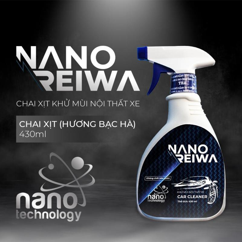 Chai xịt khử mùi ô tô Nano Reiwa 430ml - Hương bạc hà