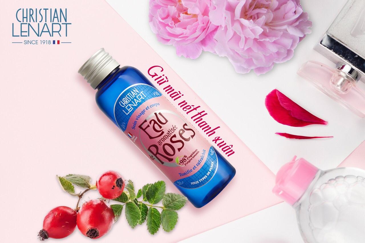 Nước hoa hồng chiết xuất cánh hoa hồng Eau aromatisée deRoses 100ml |  Lazada.vn