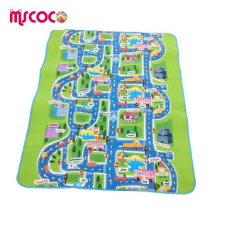 MSCOCO Fashion Children Play Mats City Road Pattern Moisture-proof Carpet Baby Kids Game Crawl Mat Outdoor Picnic Camping Rugs thumbnail