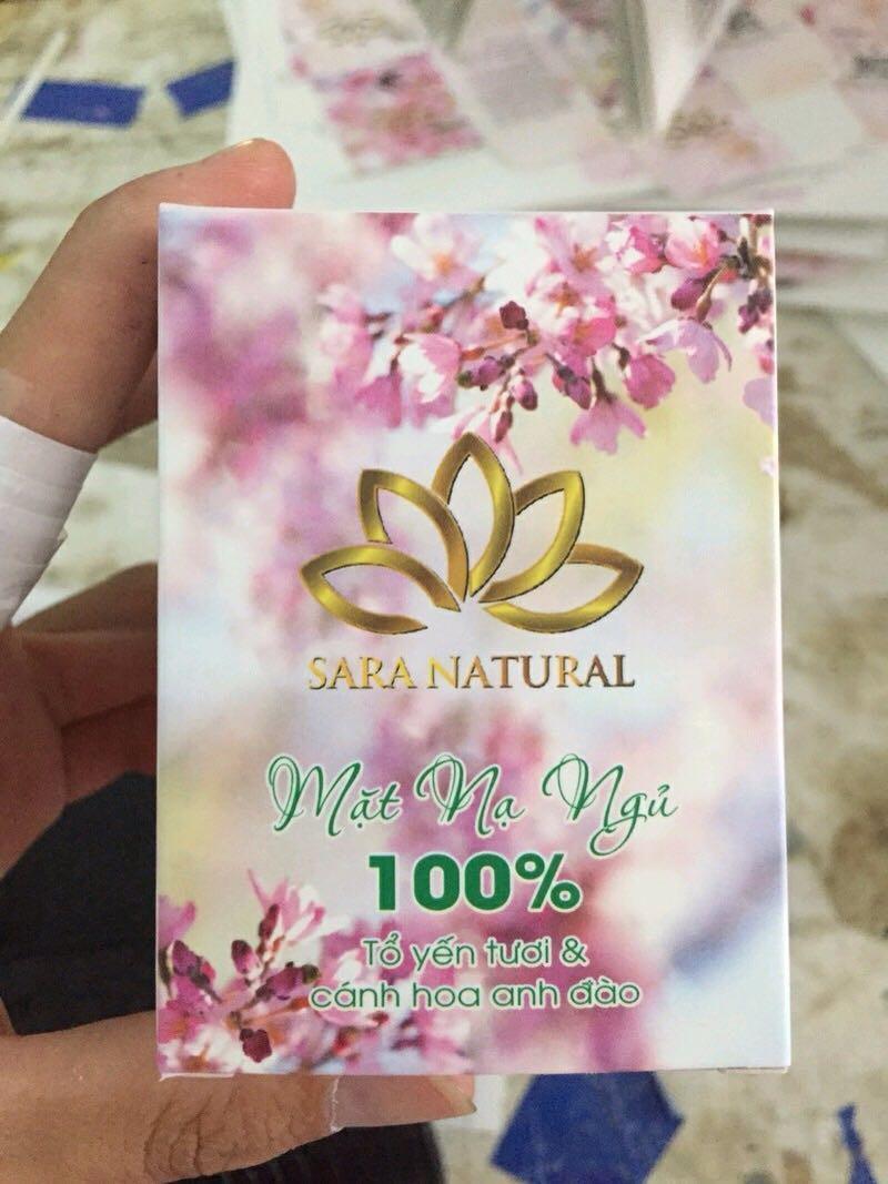Mặt nạ Yến Tươi 100% Collagen Hoa anh đào SARA NATURAL