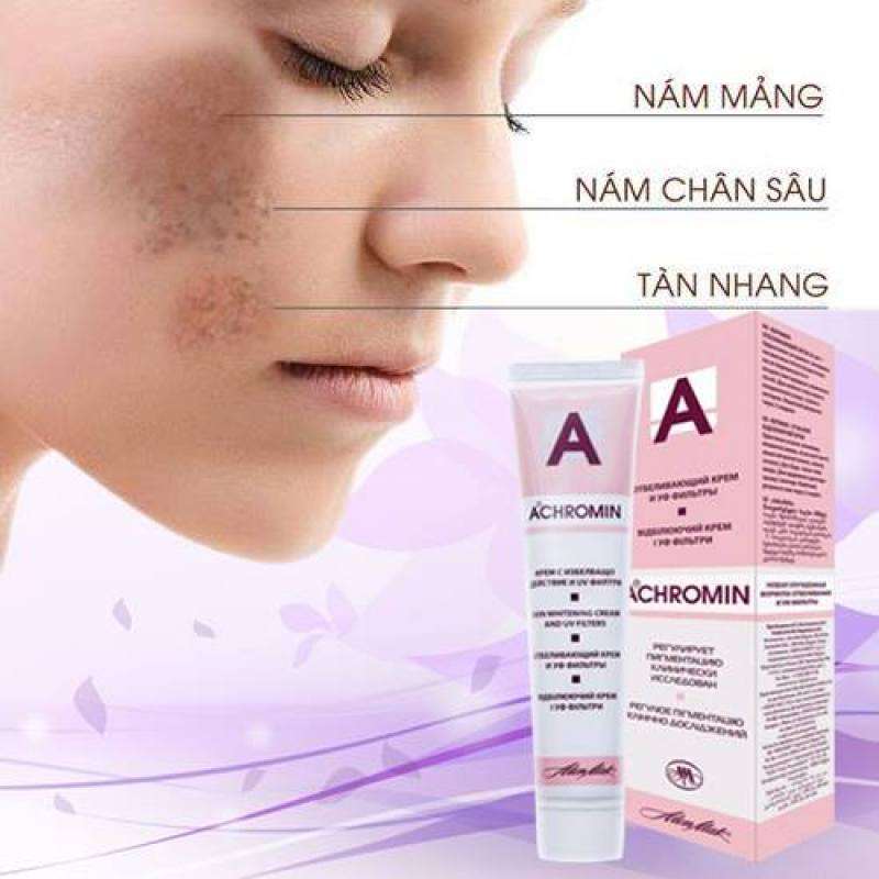Kem Loại Bỏ Nám Tàn Nhang Achromin Skin Whitening Cream 45ml nhập khẩu