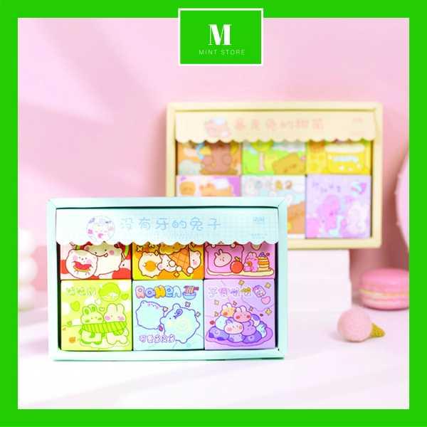 SET 300 sticker theo chủ đề (hộp lớn) Hoặc 50 sticker (hộp nhỏ bất kì) giấy cao cấp, hình dễ thương -MINTSTORE