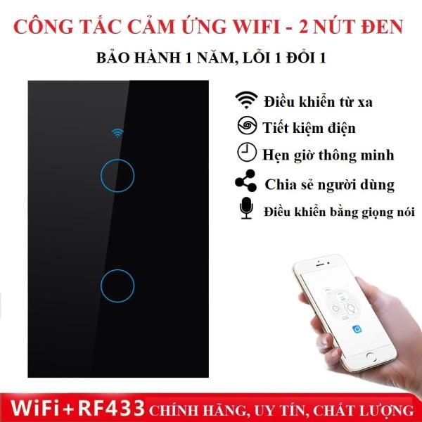 Công tắc thông minh, Công Tắc Wifi, Công Tắc Cảm Ứng Âm Tường, Công Tắc Wifi RF433 Tuya Smart Life 2,3, 4 Nút có điều khiển từ xa - Công tắc bật tắt đèn thông minh Tuyasmart uy tín, chất lượng, Bảo hành Toàn quốc