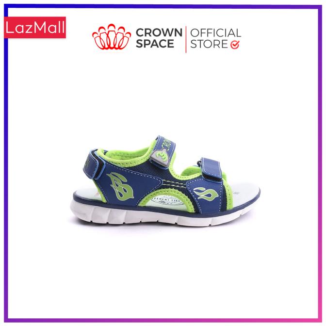 Dép Quai Hậu Bé Trai Đi Học Chính Hãng Crown Space UK Sandals Trẻ em Nam Cao Cấp CRUK535 Da Nhẹ Êm Size 26-35/2-14 Tuổi giá rẻ