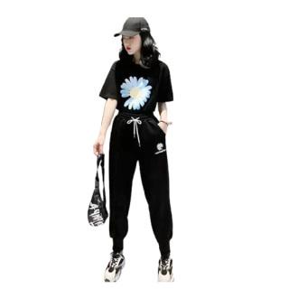 Đồ bộ nữ quần dài bo chân áo tay ngắn in hình bông cúc thời trang phong cách mới S110 thumbnail