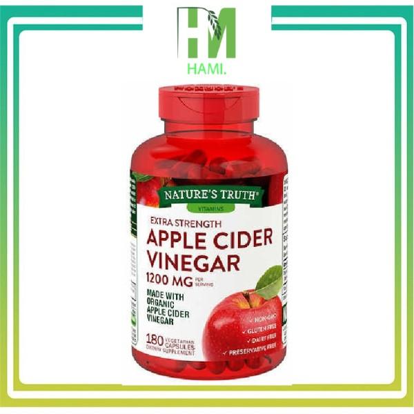 [HCM]Viên uống giấm táo Apple Cider Vinegar 1200mg - Giúp giảm cân đẹp da detox cơ thể