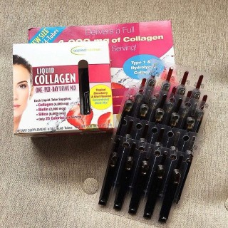 Collagen nước, liquid collagen 4000mg dạng 30 ống hàng chuẩn 100% thumbnail