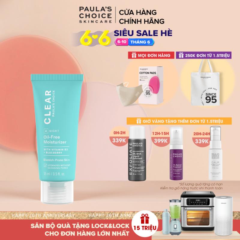 Kem Dưỡng ẩm dịu nhẹ không chứa dầu dành cho da mụn Paula's Choice Clear Oil-Free Moisturizer 15 ml 3807 giá rẻ