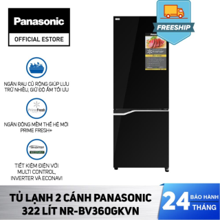 Tủ Lạnh 2 Cánh Panasonic 322 Lít NR-BV360GKVN - Bảo Hành 2 Năm - Hàng Chính Hãng