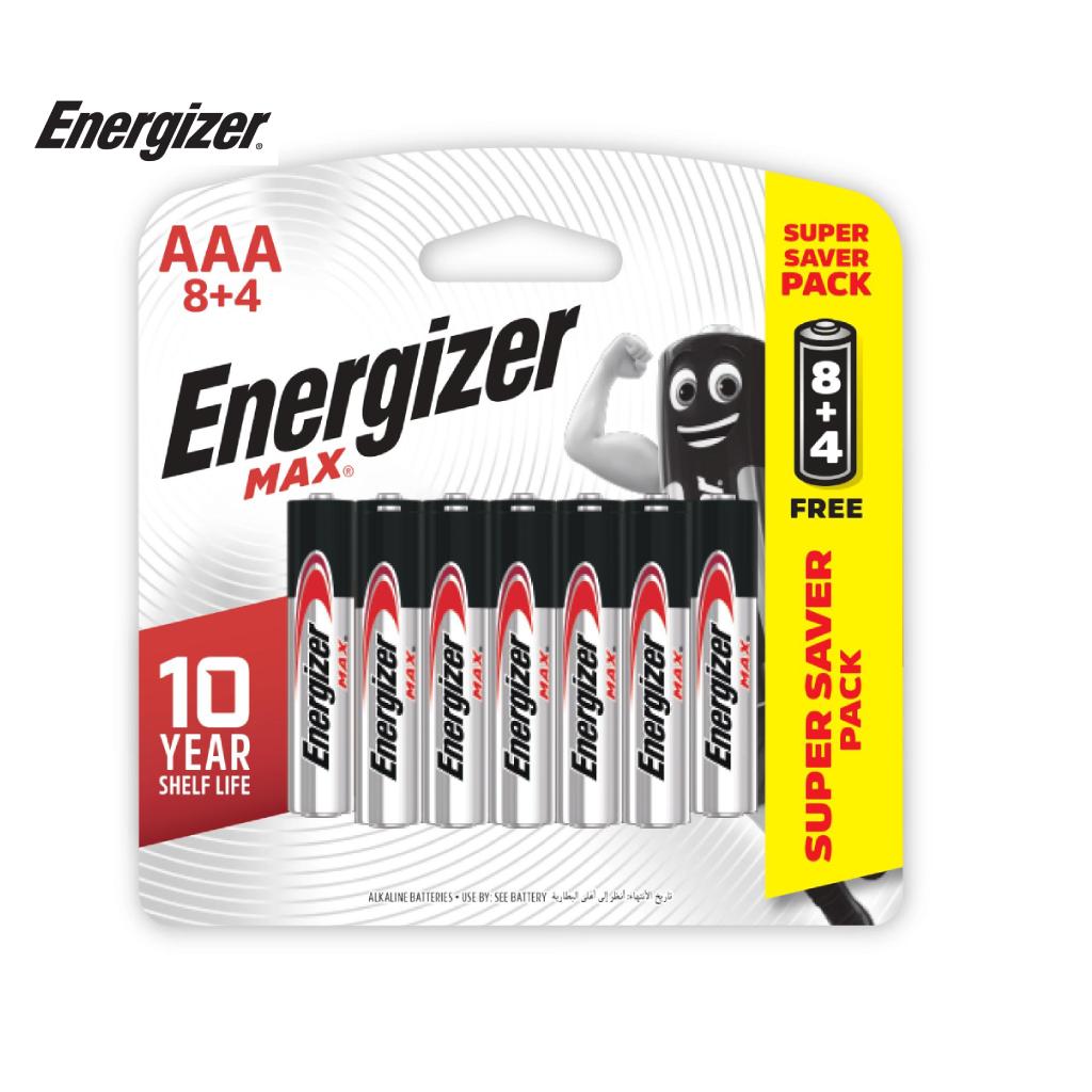 Pin Energizer Max AAA E92 BP8+4 - 100628300