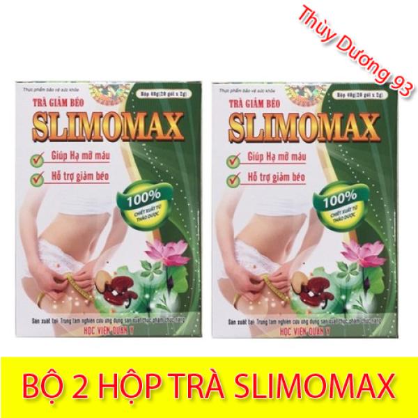 Bộ 2 hộp Trà giảm béo Slimomax Học Viện Quân Y (20 gói x 2) giúp giảm mỡ máu, giảm cân hiệu quả và an toàn