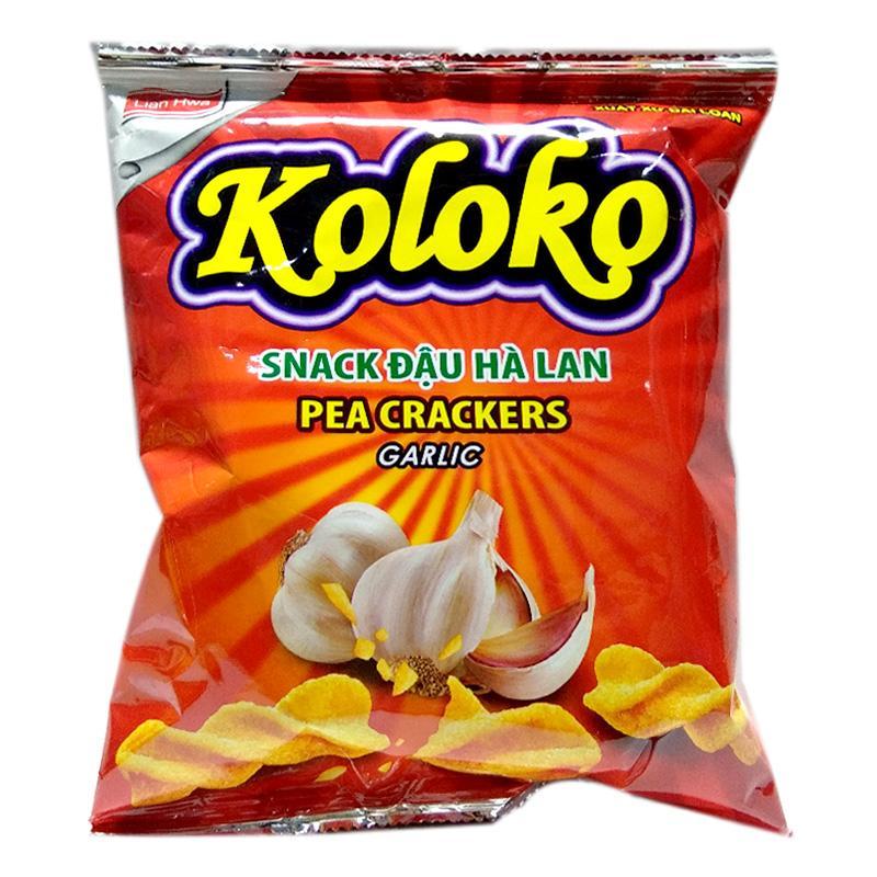Snack Koloko đậu Hà Lan vị tỏi gói 57g