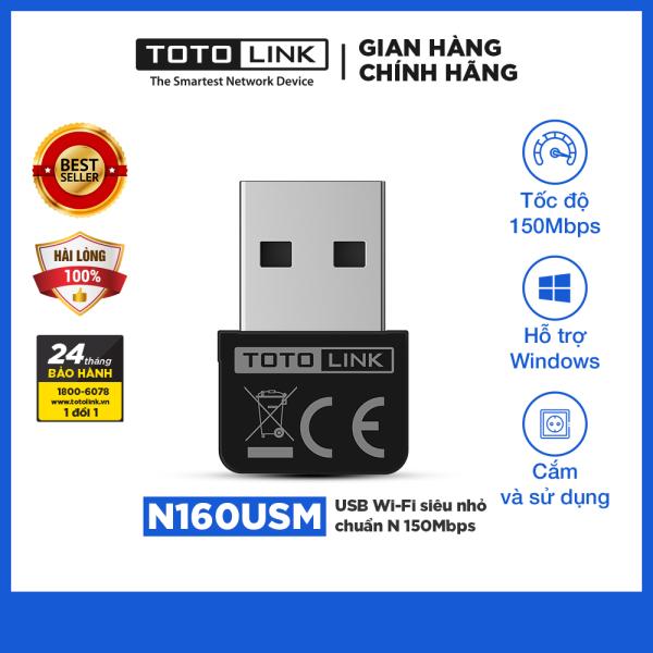 TOTOLINK - N160USM - USB Wi-Fi siêu nhỏ chuẩn N 150Mbps