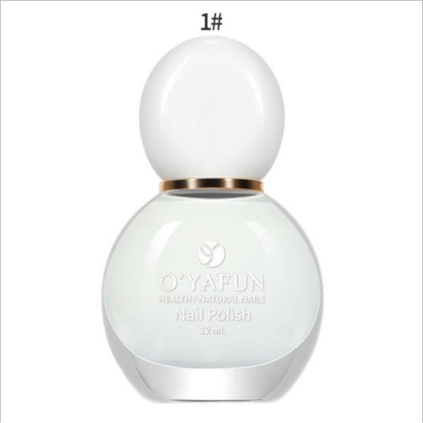 [Rẻ nhấtt][Hàng chính hãng][Hàng cao cấp] Sơn móng tay OYAFUN Nail Polish màu mới 2021 - Gốc nước siêu đẹp màu 01 - 20
