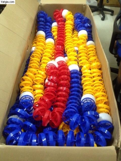 7met Phao phân làn hồ bơi  màu  đỏ, vàng, xanh hiệu Emaux