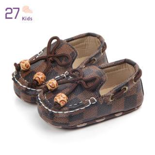 Giày Trẻ Em 27 Giày Trẻ Tập Đi Đế Mềm Chống Trượt Kẻ Ca Rô Cho Bé 0-12 Tháng Tuổi