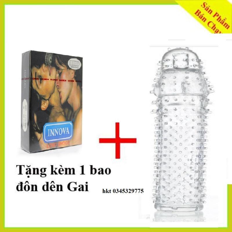 [MUA 1 Tang 1] Bao Cao Su INNOVA gân gai keo dai(3bCS) + Tang bao cao su đôn dên gai sử dụng nhiều lần