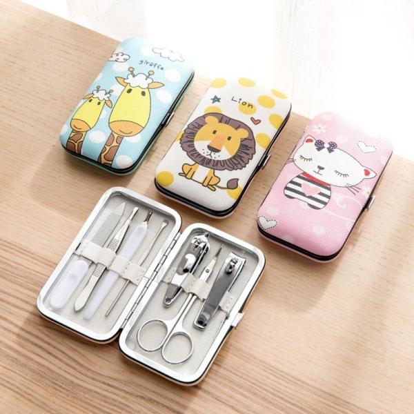 Bộ kềm bấm móng 7 món siêu cute làm bằng thép không gỉ - Dụng cụ làm nail - kềm cắt móng giá rẻ