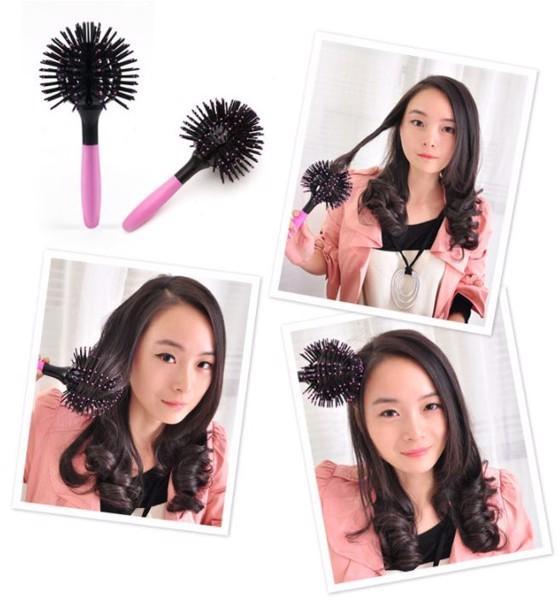 Lược chải tóc uốn lọn tạo kiểu đa năng 3D Bomb Curl 360 độ nhập khẩu
