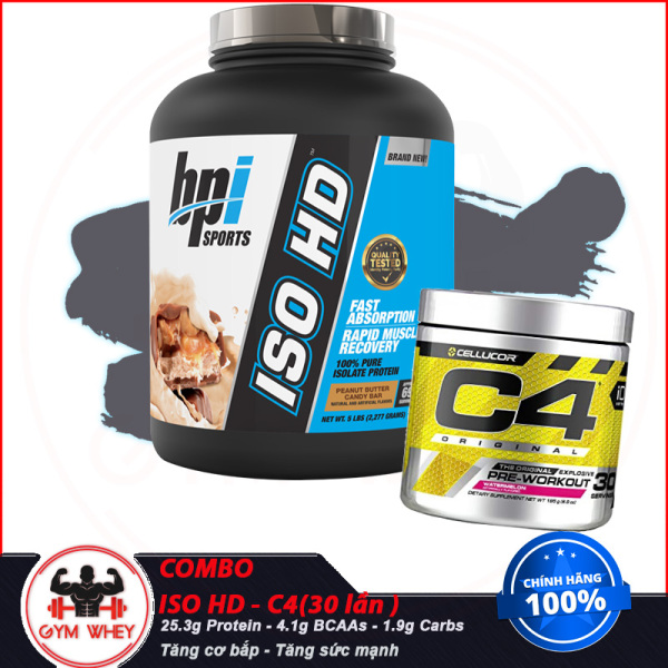 [COMBO] Tăng Cơ Bắp Tăng Sức Mạnh Siêu Tiết Kiệm ISO HD - Pre-workout CELLUCOR (30 Lần ) - TỪ Châu Âu giá rẻ